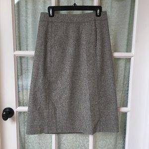 J Crew A Line Wool Gray Skirt Size 6